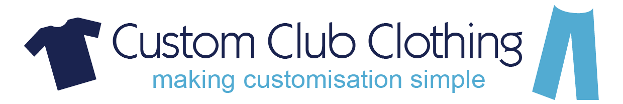 Custom Club Clothing, making customisation simple.